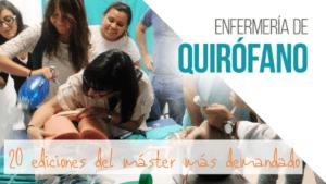 Dos décadas del Máster en Enfermería de Quirófano